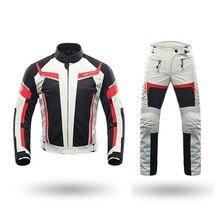 DUHAN, летние мотоциклетные куртки для мужчин, куртки для езды на мотоцикле и штаны с защитой тела, костюмы для мотокросса