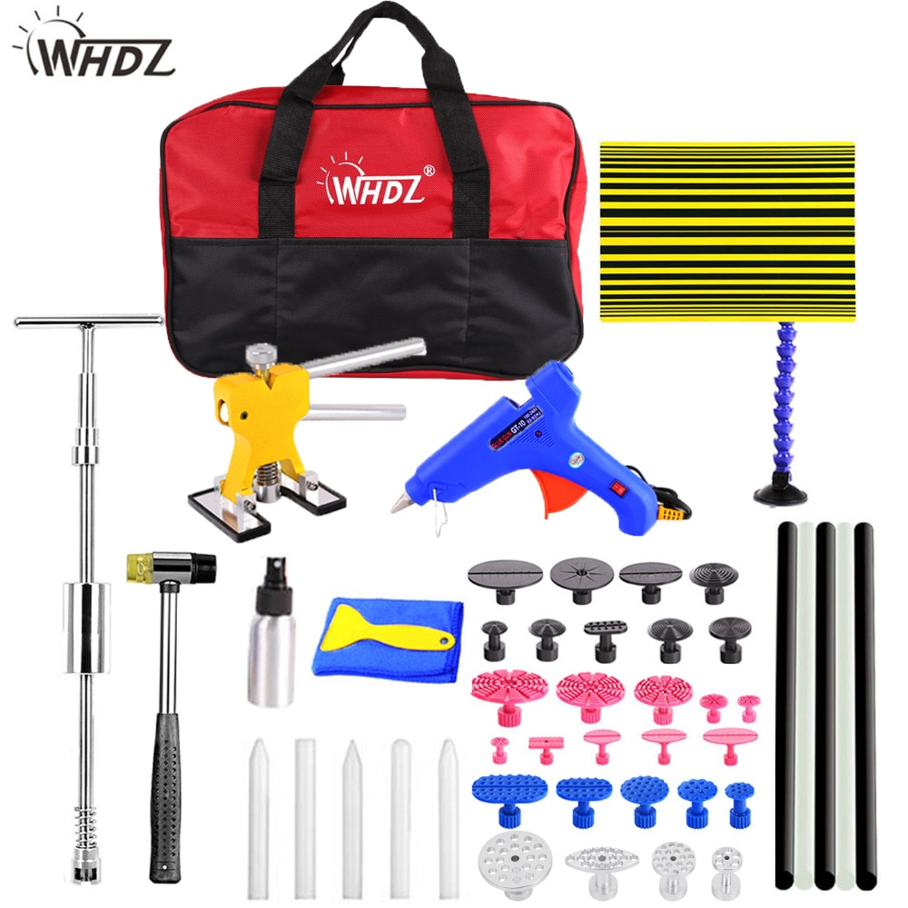 WHDZ Dent Removal repair tools high quanlity silder hammer Reflector Board Dent Puller Dent Lifter Glue Tabs Suction Cup kit