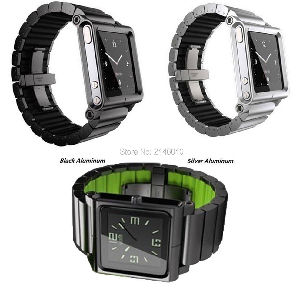 Aluminum & Rigid plastics Multi-Touch Wrist Watch Band kit Strap Bracelet for iPod Nano 6 6th
