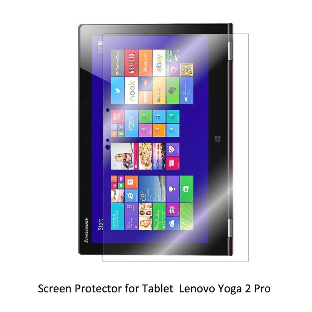 Protector de pantalla transparente LCD PET Anti-arañazos/antiburbujas/táctil sensible para tableta Lenovo Yoga 2 Pro