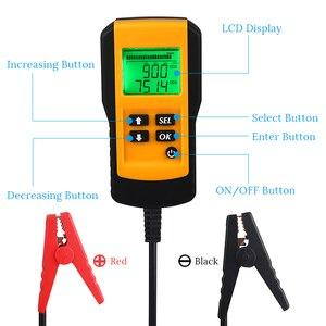 Image 4 - Тестер аккумулятора для автомобиля, цифровой диагностический прибор для проверки нагрузки аккумуляторов, 12 В, CCA