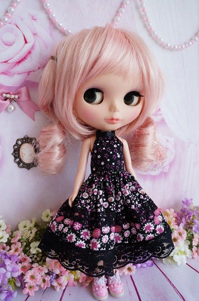 [wamami] 89# Cute Handmade Lolita Black Pink Dress For Pullip Doll