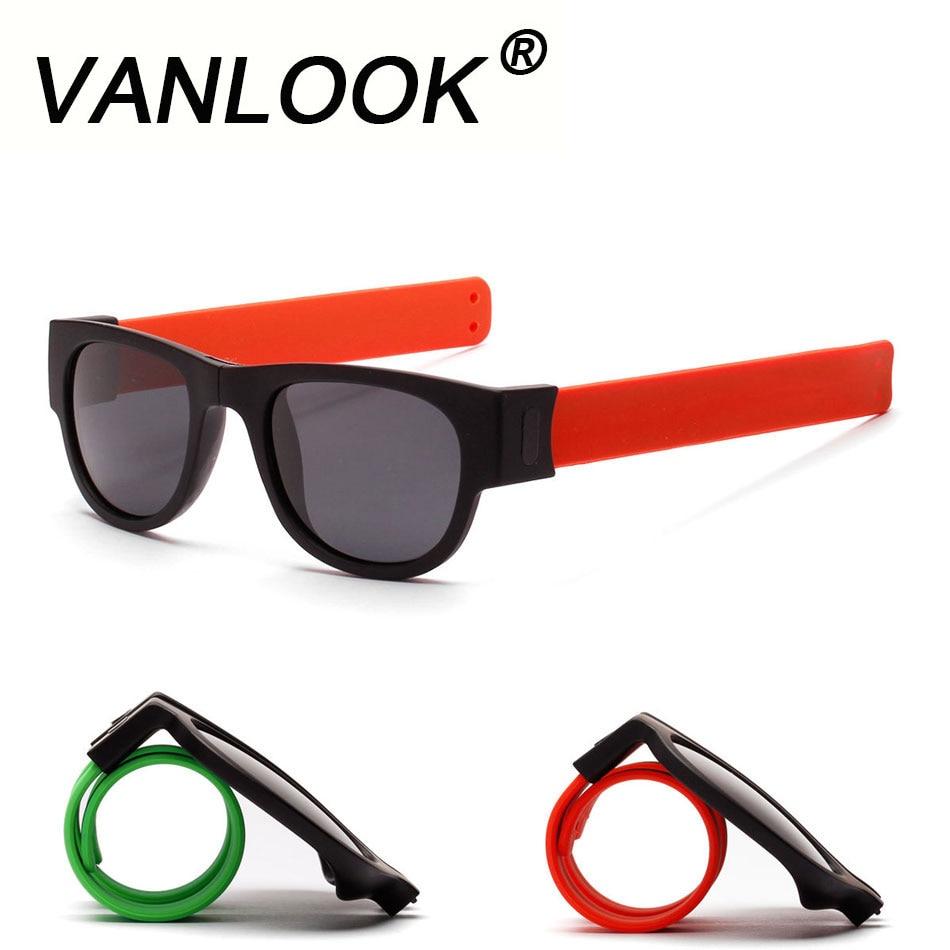 Slap óculos de sol polarizados mulher slappable pulseira óculos de sol para homem pulseira fold shades oculos colorido moda espelho