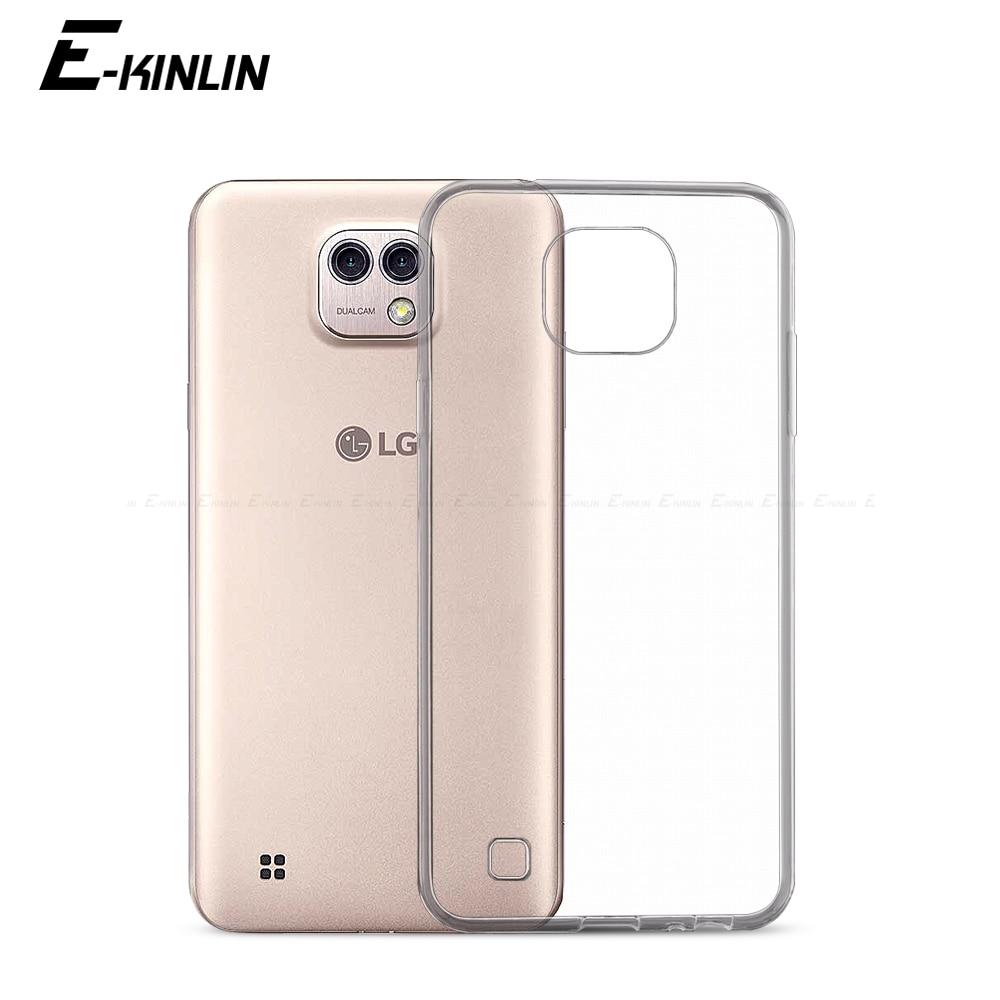 Ultra delgada Slim claro protector suave TPU caso para LG X Power 2 carga Cam piel pantalla X500 de silicona cubierta del teléfono