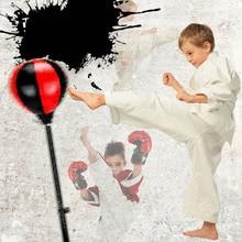 Ensemble de boxe décontracté boxe debout sac de boxe enfants Fitness poinçon poire balle vitesse sac avec gants de boxe et pompe de gonflage