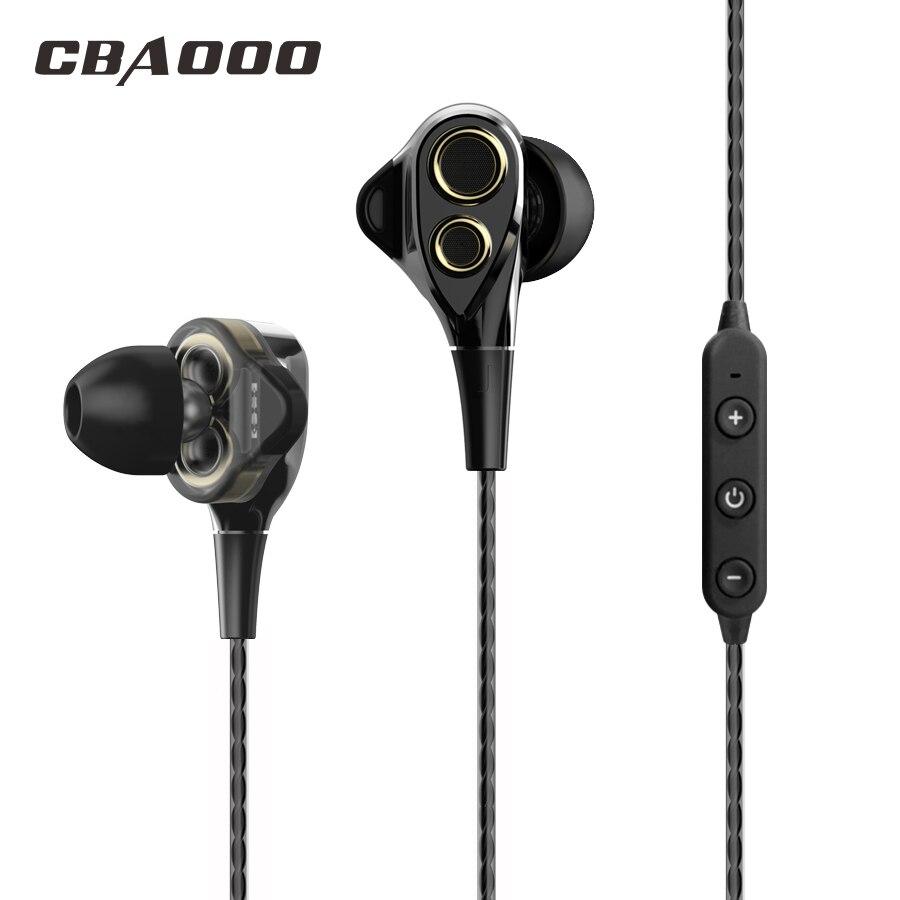 Auriculares Bluetooth CBAOOO DT100, auriculares inalámbricos con bluetooth, auriculares de doble unidad a prueba de sudor con micrófono para teléfono