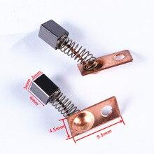 20 piezas Motor eléctrico cepillos de carbono reemplazar para/saesshine Strong Series máquina de molienda Dental Micromotor pieza de mano 3*3*4mm