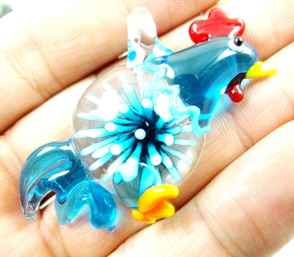 58*30MM Multi-Color Liuli coloreado glaseado pollo colgante collar cuentas sueltas P75