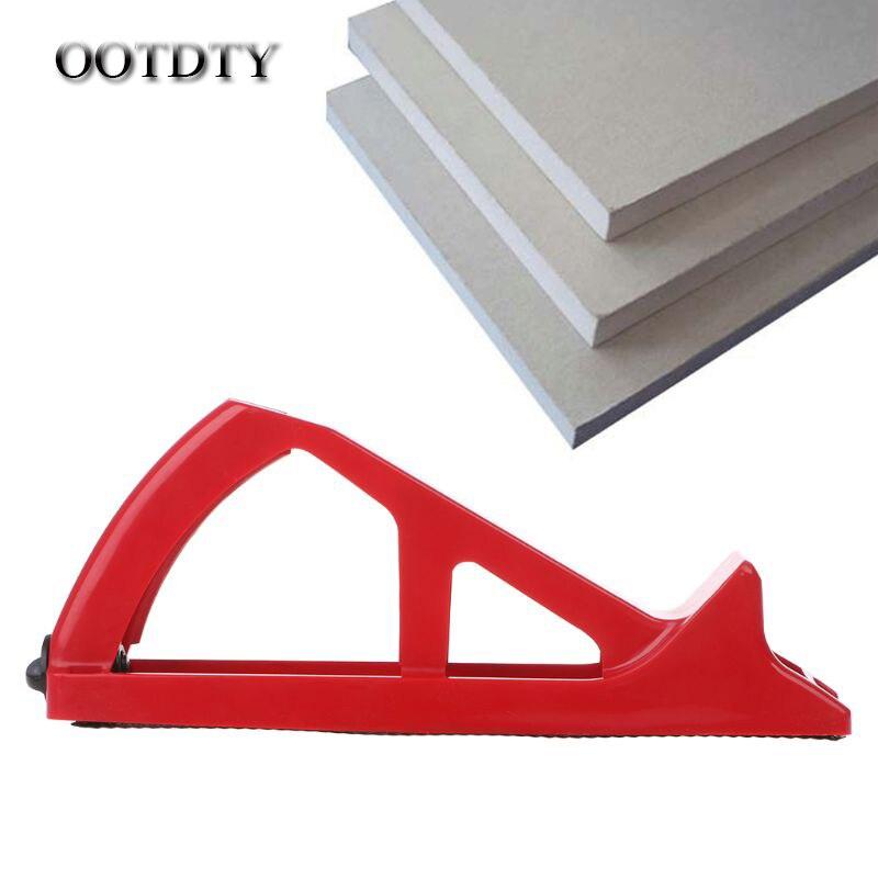 OOTDTY, tabla de yeso, tabla de pared de cepillado, desbrozadora, recortadora de placas de yeso, cepilladora, herramienta de acabado de borde abrasivo