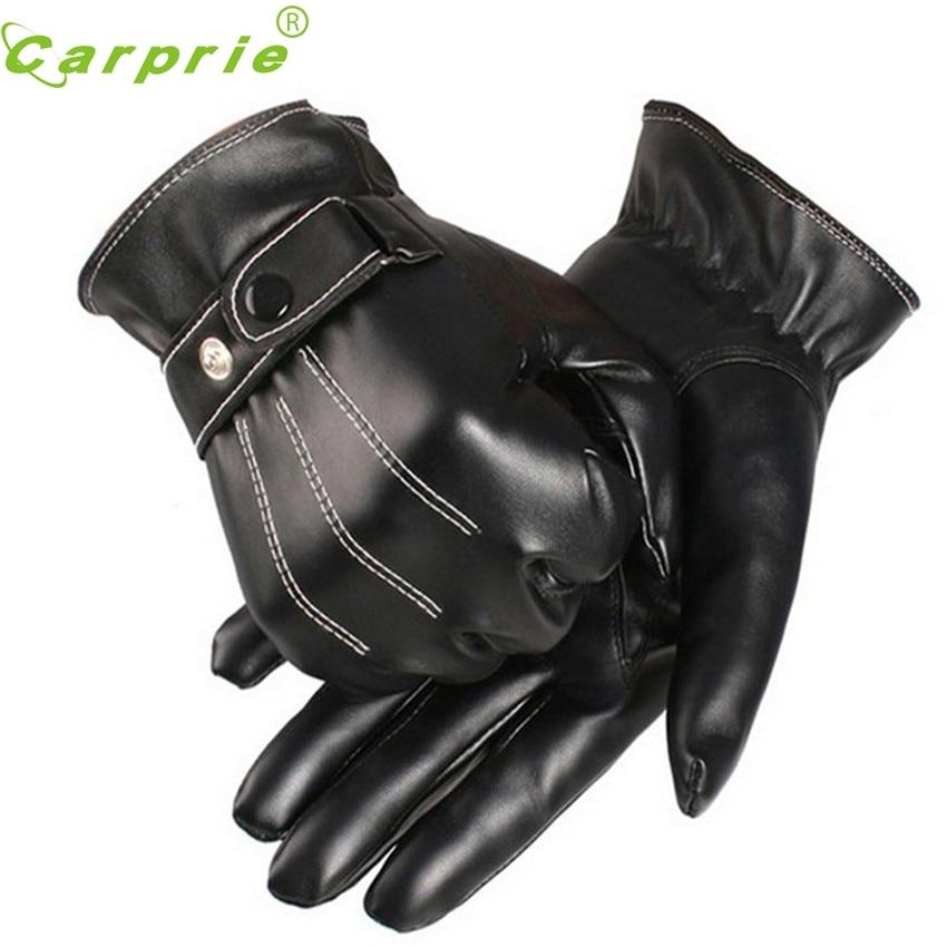 CARPRIE Super drop ship nueva moda motocicleta para hombre de lujo de cuero PU invierno Super guantes cálidos para conducir Cachemira Mar716