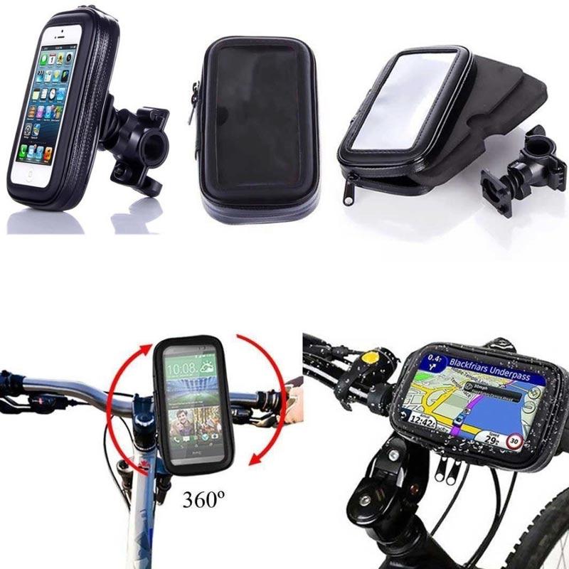 Support de téléphone de vélo de moto Support de Support Mobile Support de montage de guidon pour iphone X 8 Plus SE GPS housse de sac de téléphone étanche