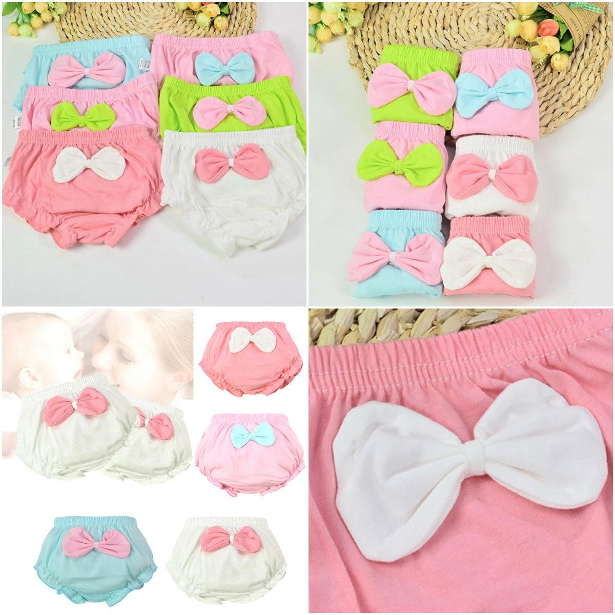 Ropa interior de algodón con lazo grande para niños, 1 unidad, 4 colores, ropa interior, pantalones cortos infantiles para niños, regalos