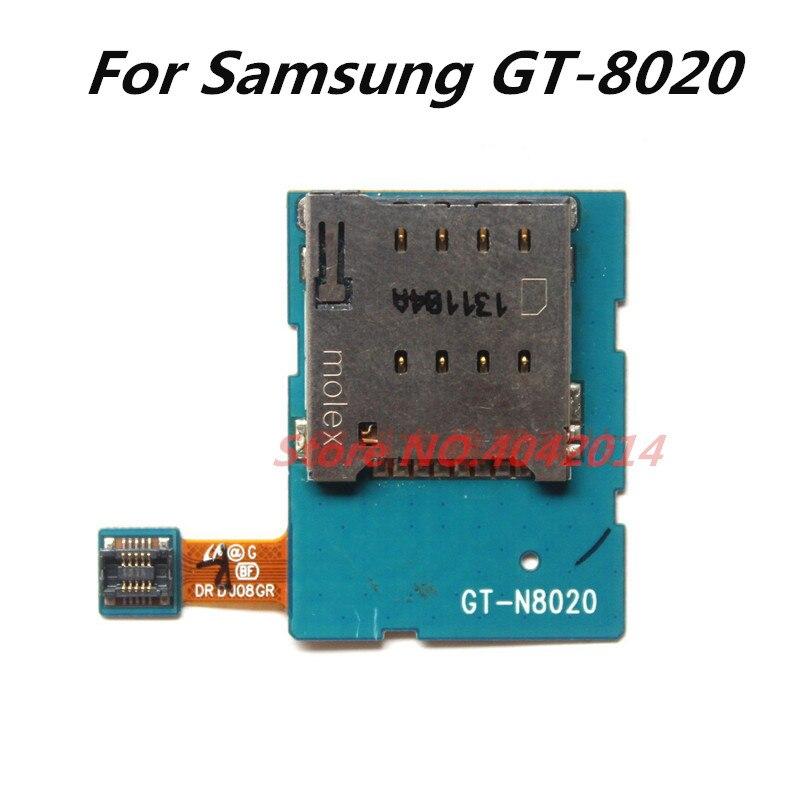 Original SIM Card Slot Sockel Halter Flex Kabel FPC Für Samsung GT-N8000 N8020 N8000 SD/SIM Kartenleser Ersatz teile