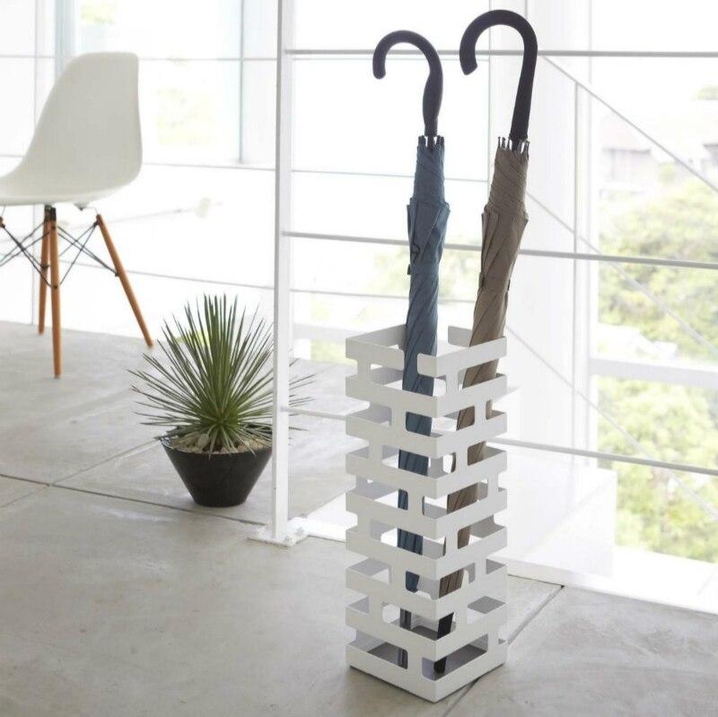 Estilo criativo De Metal tijolo casa estilo guarda-chuva da moda stand Hotel simples decoração de armazenamento guarda-chuva de golfe à prova d água