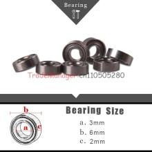 Free Shipping 10pcs  Ball Bearing Bush Wireless  toy car parts Brand new  3*6*2  imported bearings