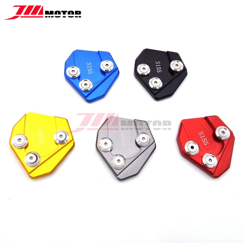 High Quality Red Color Motorcycle CNC Aluminum Side Stand Enlarge Plate Kickstand For YAMAHA SMAX155 S-MAX 155 2012-2016