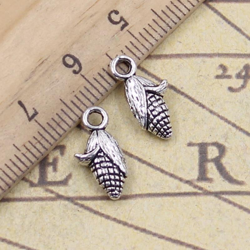 20pcs/lot Charms Corn On The Cob Ears 15x12mm Tibetan Pendants Antique Jewelry Making DIY Handmade For Bracelet Necklace