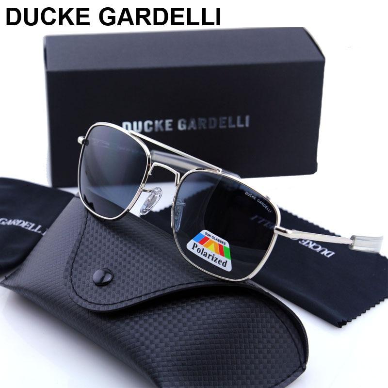 DUCKE GARDELLI Flyer Men Air force military Metal Polarized 57 mm 52 mm army optical SUNGLASSES Gafas de sol lunettes with box