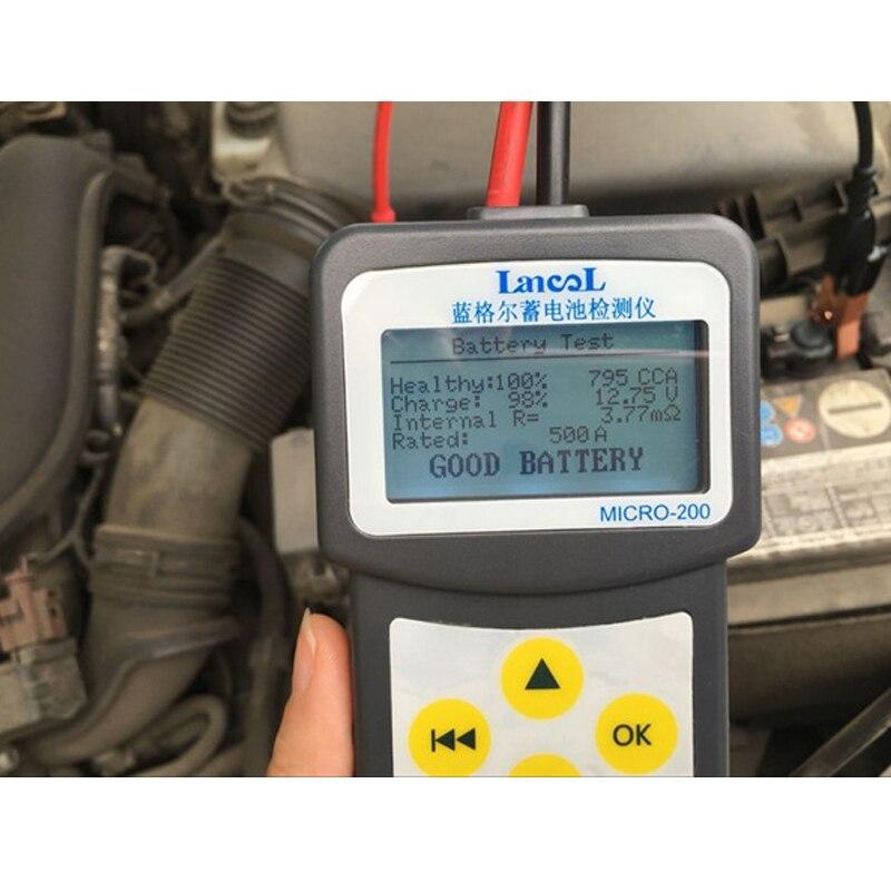 Lancol Factory 200, инструменты для автомобильного аккумулятора для автомобилей, анализатор аккумуляторов, тестер, время работы аккумулятора автомобиля, многоязычный