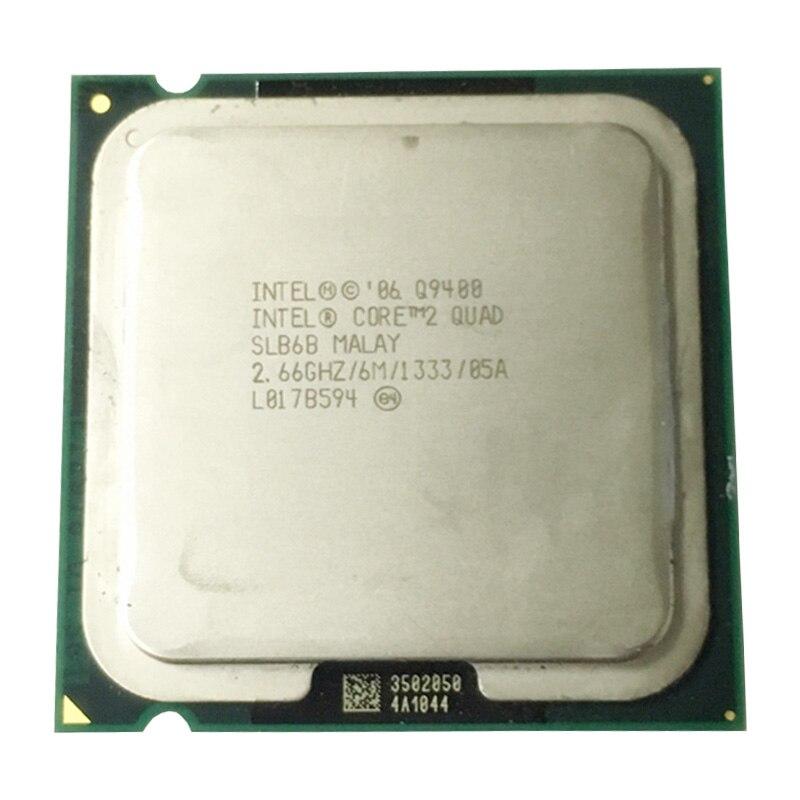 Intel core2 q9400 quad core processador (2.66 ghz/6 mb cache/fsb 1333) intel q9550/q9650 série lga775 quad core cpu