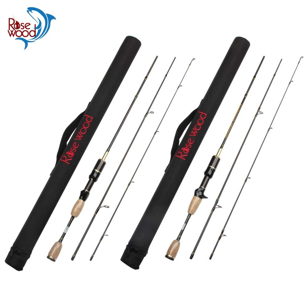 Paquete de 6 Barra de viaje 1,8 m 3 sección Ul señuelo caña de pesca Ultra ligero peso 0,8-5g línea de peso 2-5 lb Spinning Casting Pole