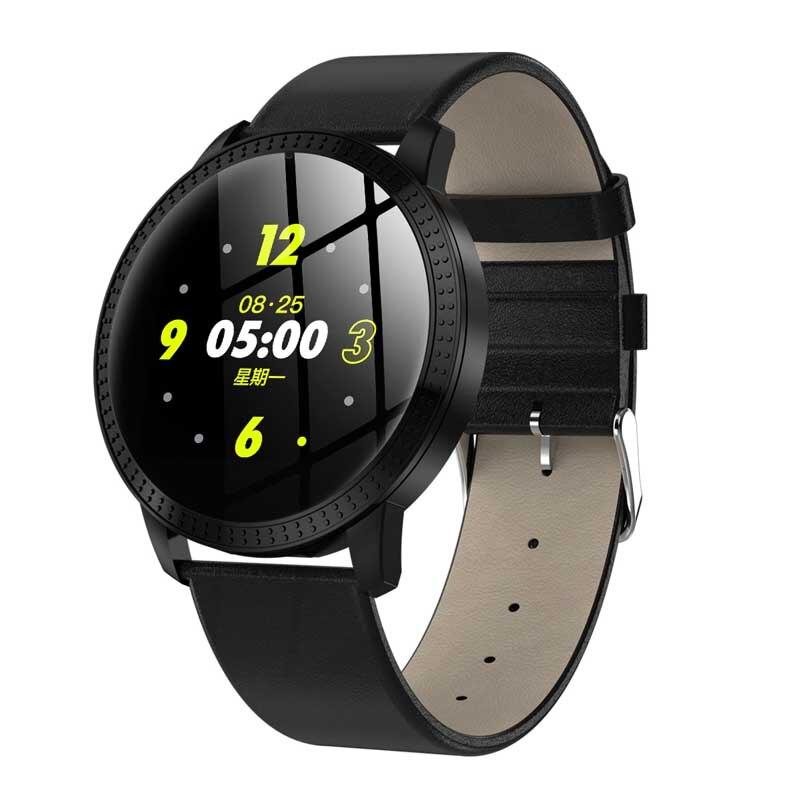 Reloj inteligente CF18 reloj de pantalla redondo a la moda impermeable para hombre rastreador de actividad física Bluetooth para mujer reloj inteligente