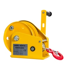 Treuil manuel autobloquant 800LBS avec câble métallique de 8m et crochet, palan manuel de Machine délingue de levage doutil à main