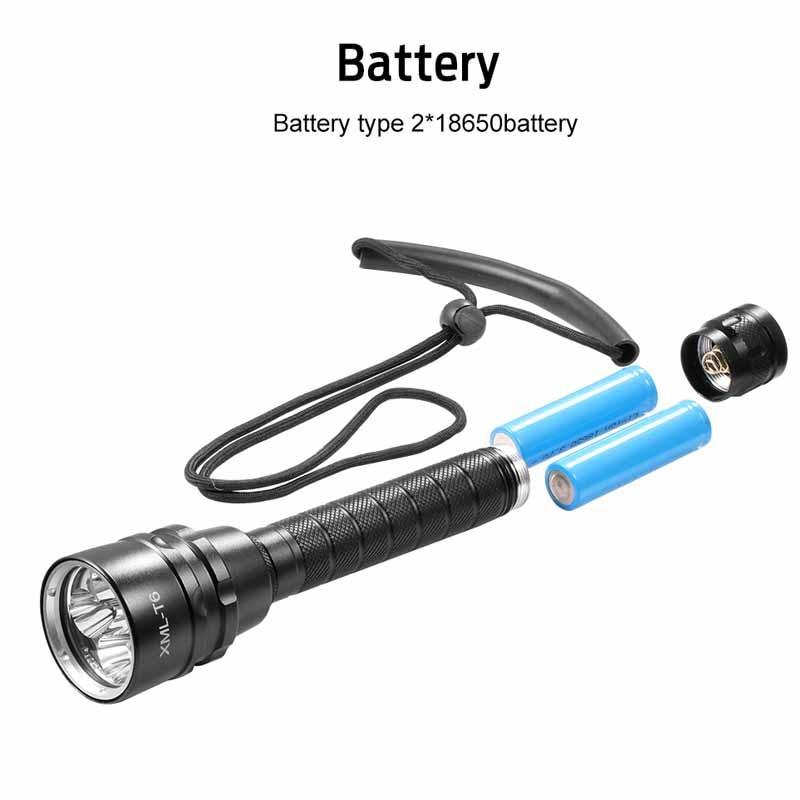 Ultrafire الغوص الشعلة XML-T6 3800 LMS مصباح من الألومنيوم التكتيكية التبديل الصيد فانوس 18650 بطارية شحن مصباح يدوي لوز