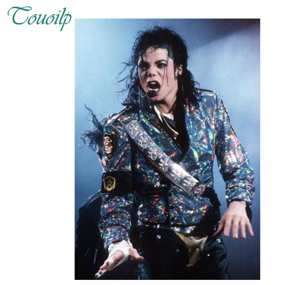 5D DIY dżetów diament malowanie Superstar Michael Jackson cross stitch pełna okrągły i kwadratowy diament haft z tworzywa sztucznego rzemiosła