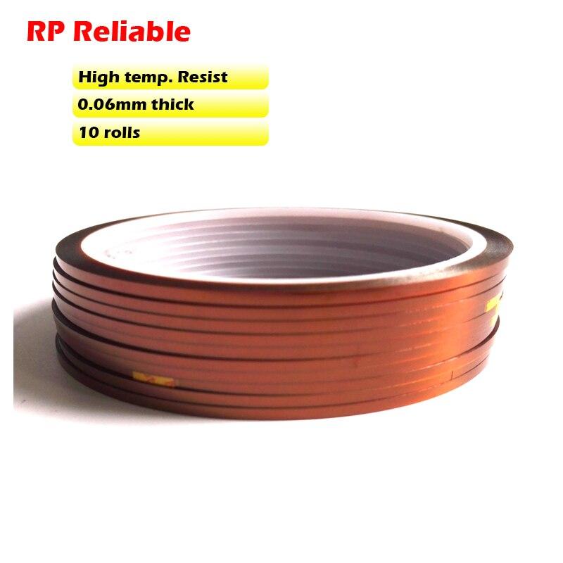 ¡Envío Gratis! 10x 4mm * 33 M * 0,06mm película de aislamiento de alta temperatura cinta de película de poliimida, PCB SMD BGA soldadura blindaje