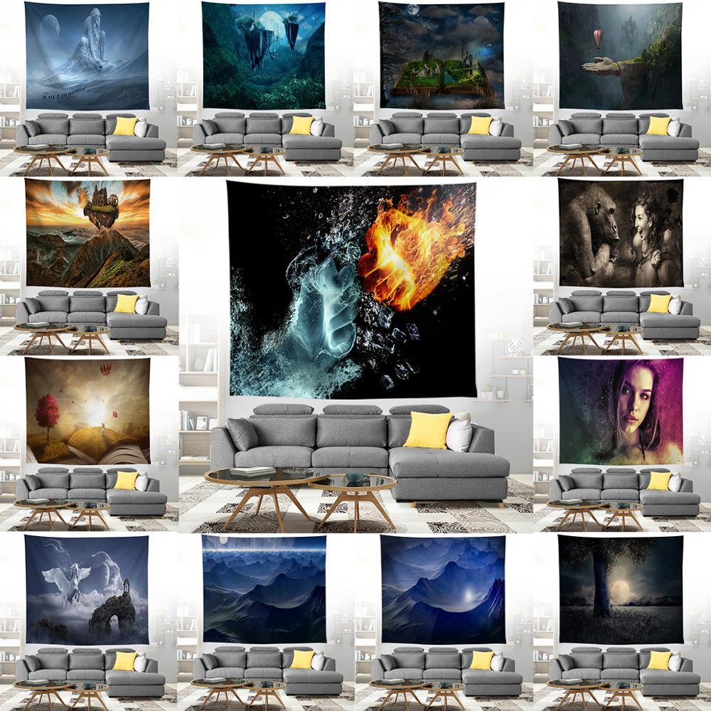 ZEIMON, tapiz de escena natural, decoración de pared para el hogar, tapices psicodélicos para plantas, tela, tapiz, manta, toallas de playa