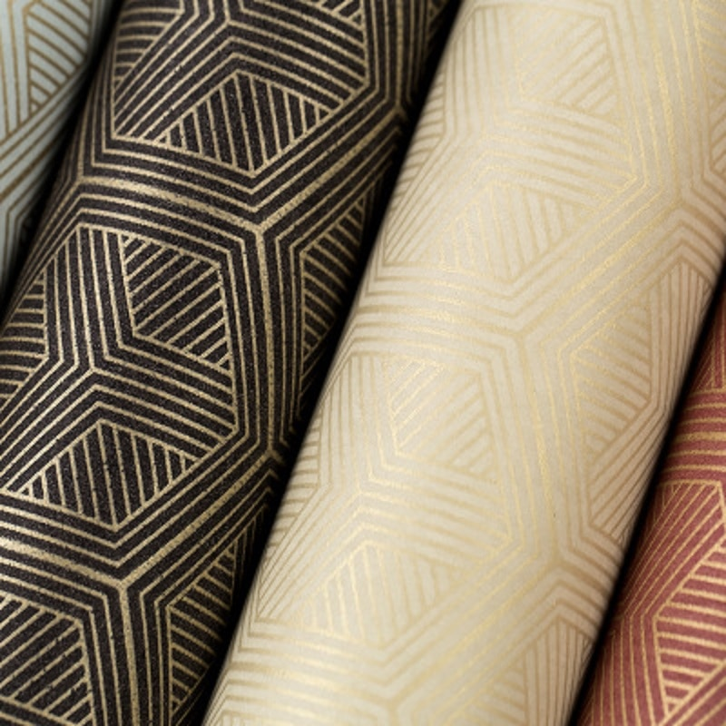 Nuevo papel tapiz retro de estilo chino no tejido patrón geométrico hexagonal papel de pared tapiz dormitorio 53x1000cm