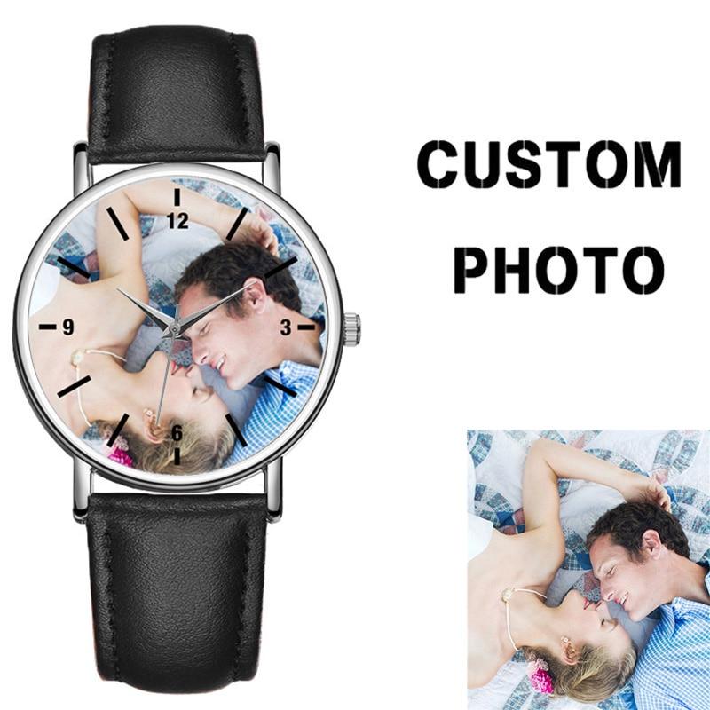 C-0000 a medida tu propio reloj creativo de regalo para hombre, esfera en blanco, reloj para amantes de la foto, relojes para mujer, reloj personalizado OEM