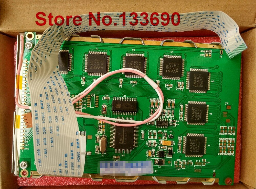 Ag320240f 24pin ffc cabo 320240f ampire painel lcd compatível azul branco 8080 paralelo ra8835 driver ccfl backlight novo