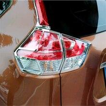 WELKINRY-garniture de feu arrière   Style de couverture auto pour Nissan 2013 T32 2014 2015 2016 2017, ABS chromé, feu arrière