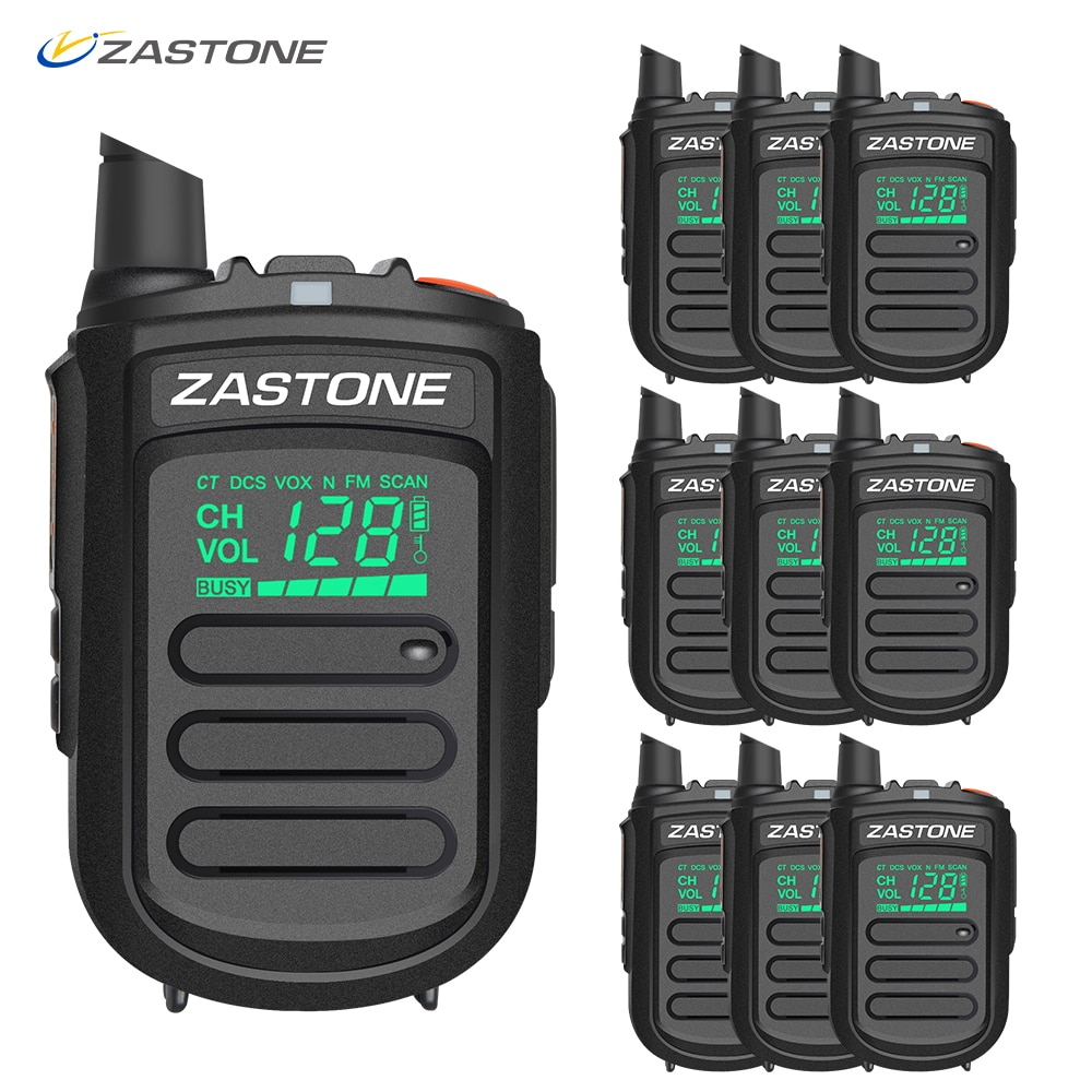 (10 stücke) zastone Mini9 Walkie Talkie Professionelle Portable Two Way Radio CB Radio UHF 400-470 mhz Communicator Transceiver telsiz