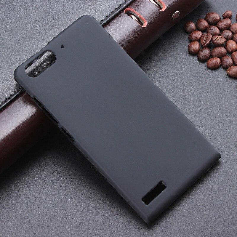 Funda negra de Gel TPU suave y delgada para Huawei Ascend G6 3G P6 mini funda de silicona de goma para teléfono