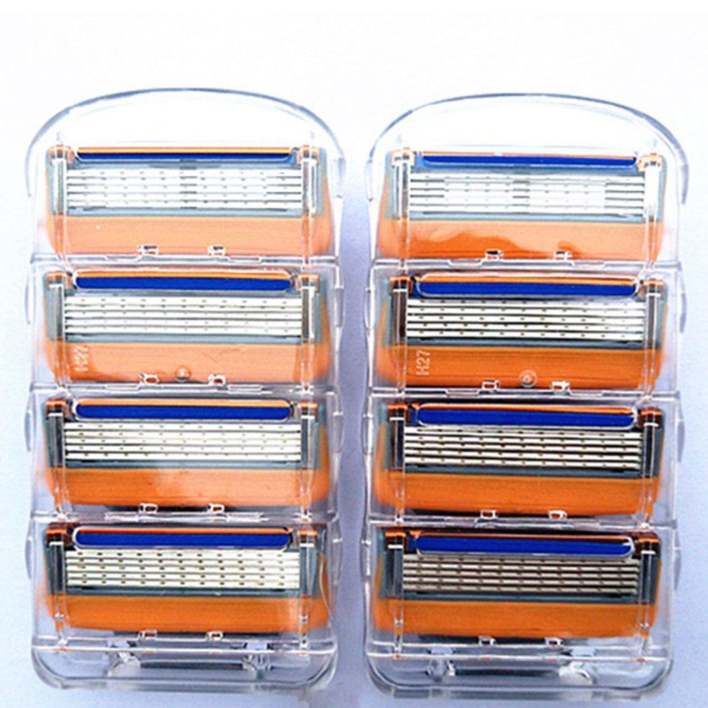 4 Uds 5 capas hombres afeitado de cara razors cuchillas hombre Manual de la maquinilla de afeitar cuchillas estándar barba Shaver Trimmer de cuchillas