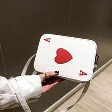 Version coréenne nouveau créatif drôle sac de messager cartes à jouer forme drôle cadeau coeur emballage Cubes sac à bandoulière