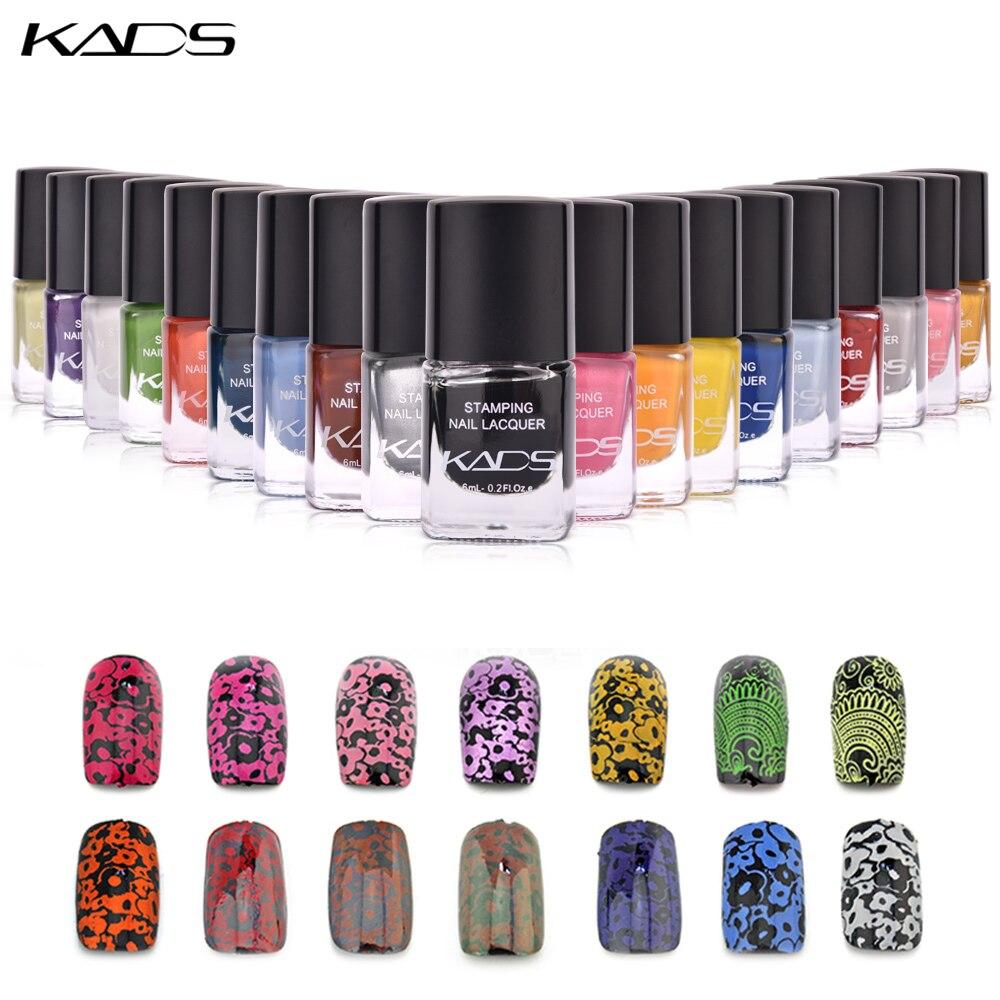 KADS 6ml esmalte de uñas para estampar laca esmalte de uñas estampado uñas barniz uso nail art stamp gel Polish para plantilla