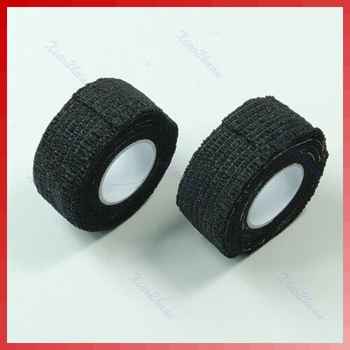 YAS 10 рулонов Flex Wrap Finger бандажная лента пилка для дизайна ногтей маникюр защитный черный Pro
