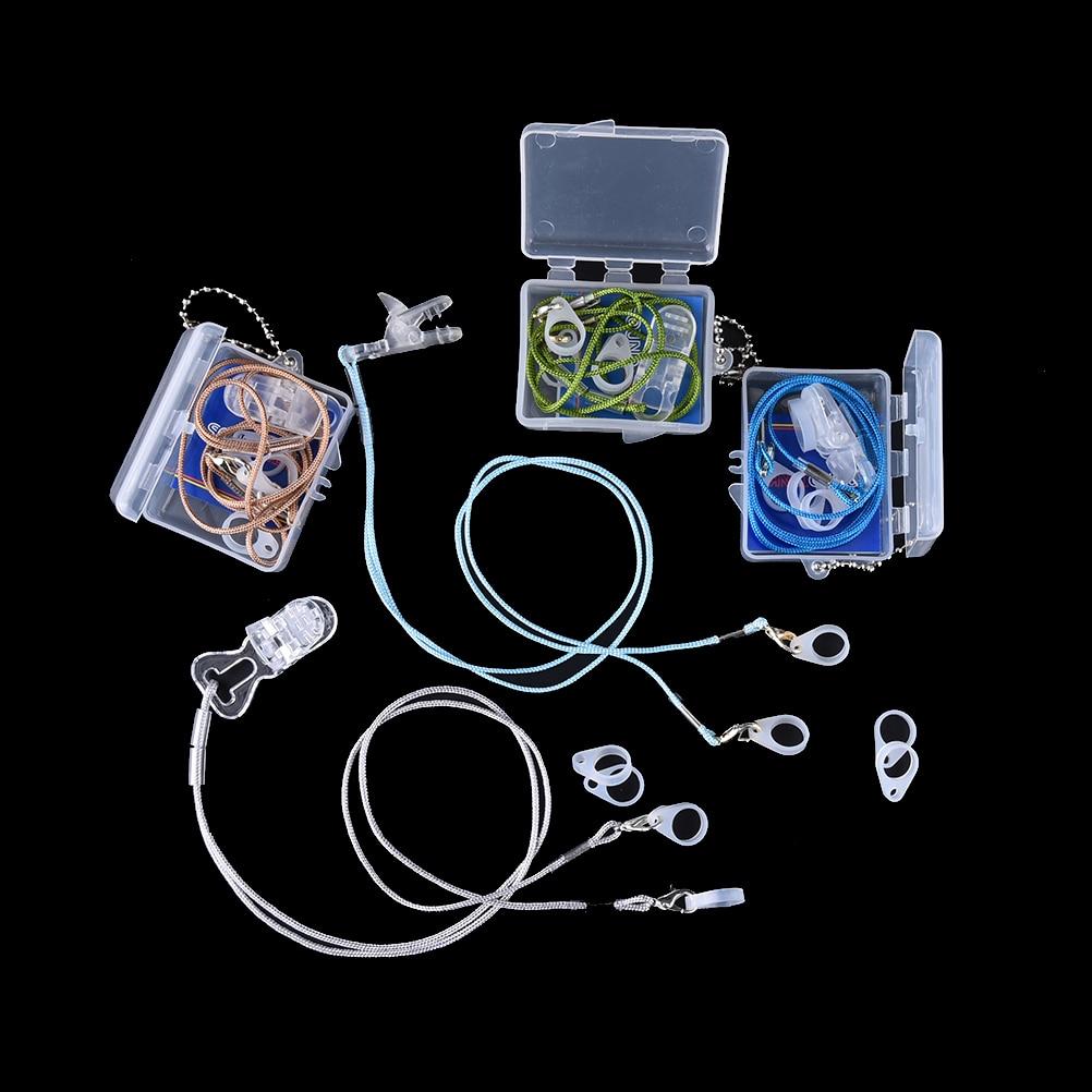 Детский и взрослый слуховой аппарат, зажим, защитная веревка, держатель, защитные аксессуары, 1 комплект
