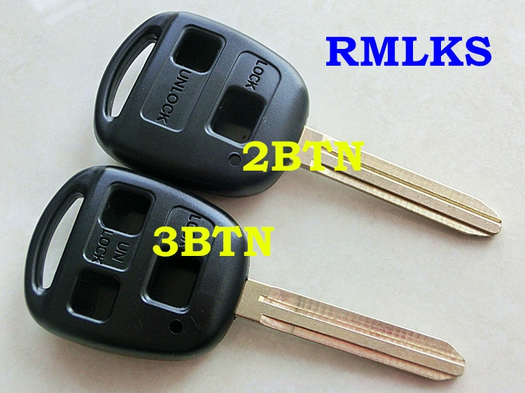 Reemplazo RMLKS remoto clave Shell Fob TOY43 hoja apto para Toyota Prado Tarago Camry Corolla Rav4 Avensis eco