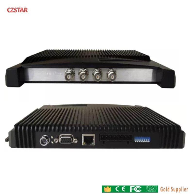 Lector de largo alcance de los puertos antena Impinj r2000 RS232 TCP IP 868, 915 mhz rfid uhf etiqueta cronometraje deportivo sistema de seguimiento de activos