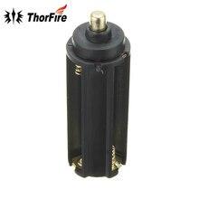 Cylindre noir en plastique 3 x support de pile aaa boîtier boîte 18650 Batteries accessoires déclairage Portable pour Torches de lampe de poche LED