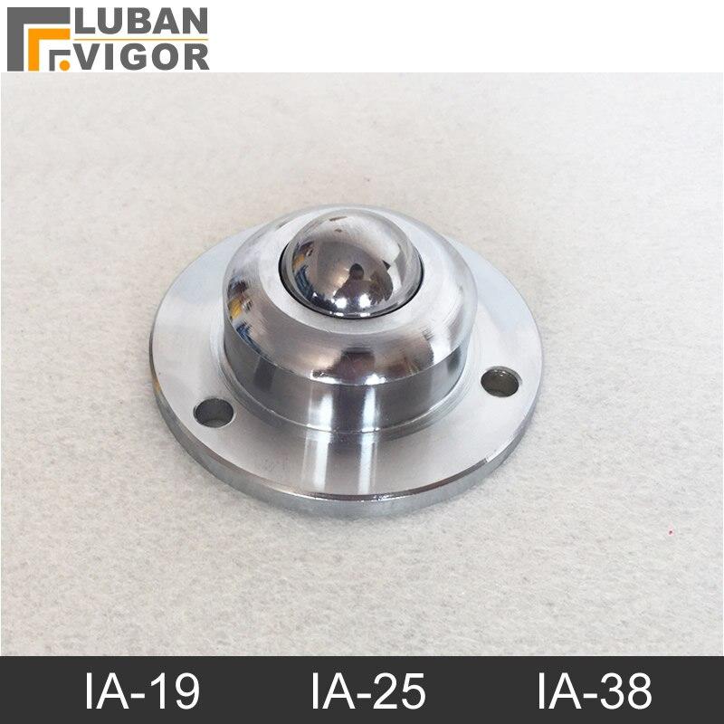 Heavy-duty IA-19-25-38 Precision kugellager rollen/rad, runde flansch, 3 löcher Übertragung systefurniture rad