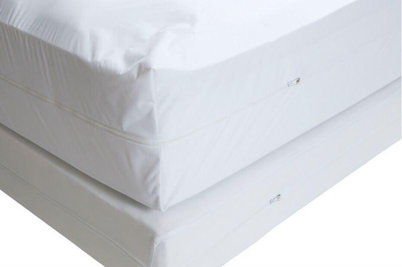 Envío Gratis tamaño 110X200 cm suave Allerzip cubierta impermeable del colchón con la caja de la cremallera del resorte para el Bug de la cama