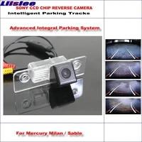 car intelligentized reversing back camera for mercury milan sable 580 rear view cam tv lines dynamic guidance tracks
