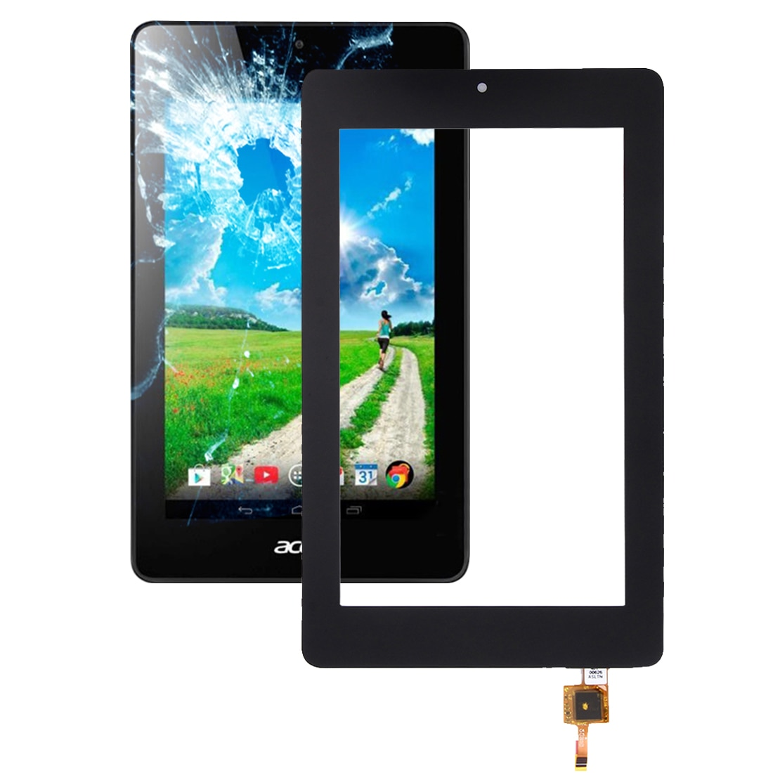 Para Acer Iconia One 7/B1-730 pantalla LCD con Digitalizador de Panel táctil montaje del sensor de vidrio