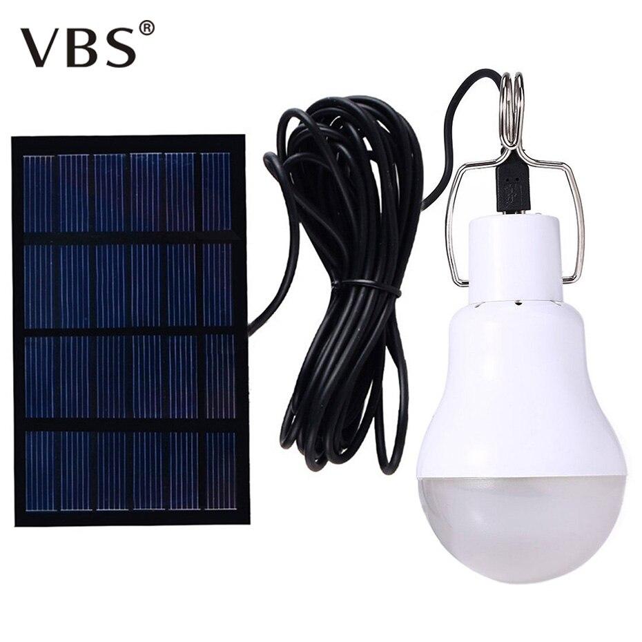 Portable Solar Light 15W 130LM Solar Powered Energy Lamp 5V LED Bulb for Outdoors Camping Light Tent Solar Lamp